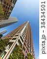 タワーマンション 青空 高層マンションの写真 38434501