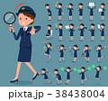 女性 婦警 警官のイラスト 38438004