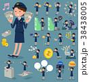 女性 婦警 警官のイラスト 38438005