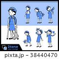 セット 女性 婦警のイラスト 38440470