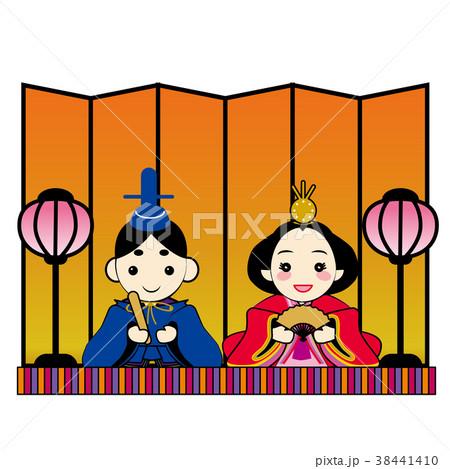 ひな祭りのイメージイラスト|雛人形 ひな人形 雛祭り|ベクターデータ 38441410