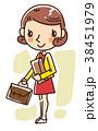 イラスト ビジネスウーマン 女性のイラスト 38451979