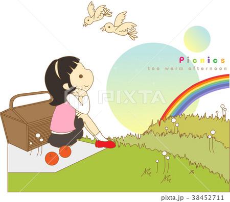 ピクニック 遠足 女性 38452711
