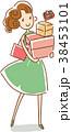 ショッピング 買い物 女性のイラスト 38453101