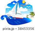 ヨット 船舶 海のイラスト 38453356