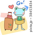 旅行 動物 カエルのイラスト 38453834