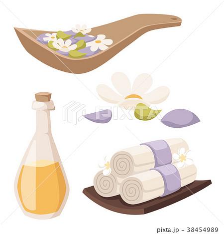 Spa vector icons treatment beauty procedures 38454989