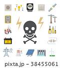 ベクトル 電気 バッテリーのイラスト 38455061