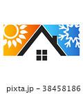 太陽 スノーフレーク 雪片のイラスト 38458186