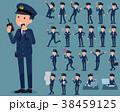 男性 人物 警察官のイラスト 38459125