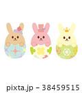 たまごの中のウサギ イースターの飾り 38459515