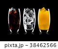 Glasses of cola and orange soda drink and lemonade 38462566