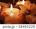 Burning candles on dark background. 38463226