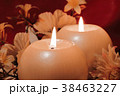 Burning candles on dark background. 38463227