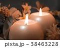 Burning candles on dark background. 38463228