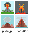 Volcano magma vector nature blowing up with smoke 38465082