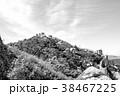 【モノクローム】ムーアの城壁-ポルトガル 38467225