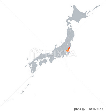 茨城県地図 日本列島 38469644