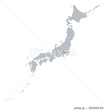 東京都地図 日本列島 38469749
