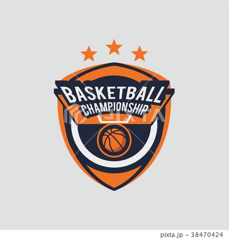 basketball logo template のイラスト素材 38470424 pixta