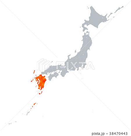 九州地図 日本列島 38470443