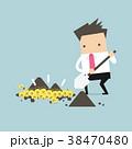 ビジネスマン 実業家 漫画のイラスト 38470480