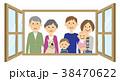 家族 ファミリー ペットのイラスト 38470622