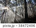 朝日 光芒 金峰山の写真 38472406