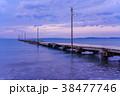 原岡桟橋 桟橋 海の写真 38477746