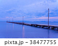 原岡桟橋 桟橋 海の写真 38477755