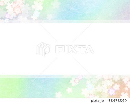 背景-桜-和紙-春 38478340