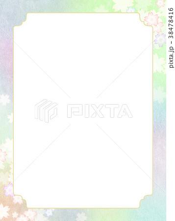 背景-桜-和紙-春 38478416