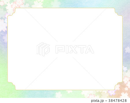 背景-桜-和紙-春 38478428