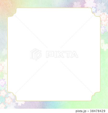 背景-桜-和紙-春 38478429