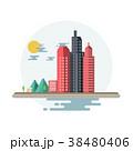 都市 景色 風景のイラスト 38480406