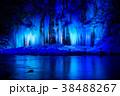 三十槌の氷柱 ライトアップ 氷柱の写真 38488267