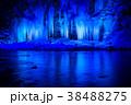 三十槌の氷柱 ライトアップ 氷柱の写真 38488275