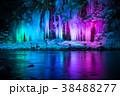 三十槌の氷柱 ライトアップ 氷柱の写真 38488277