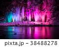 三十槌の氷柱 ライトアップ 氷柱の写真 38488278