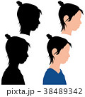 人影 影 シルエットのイラスト 38489342