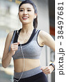 女性 スポーツ ランニングの写真 38497681