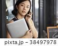 女性 ビジネス カフェの写真 38497978