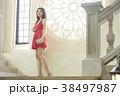 女性 若い女性 ドレスの写真 38497987
