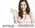 アジア人女性のポートレートシリーズ ハンドサイン 38498350