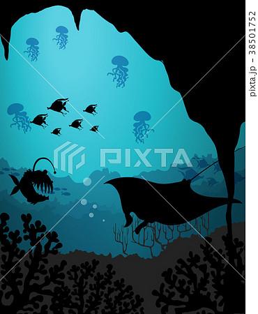 Silhouette scene with sea creatures underwater silhouette scene with sea creatures underwater voltagebd Gallery