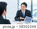 ビジネスマン、商談、提案、ミーティング 38502349