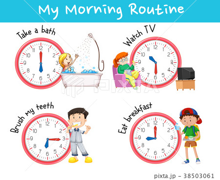 Chart showing different morning routines 38503061