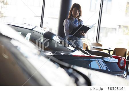 自動車ディーラー 女性販売員 38503164