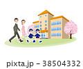 幼稚園 家族 園児のイラスト 38504332