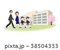 人物 小学校 入学式のイラスト 38504333